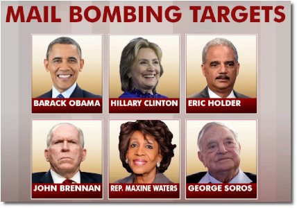 Mail bombing targets (25 Oct 2018)