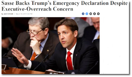 Ben Sasse likes to criticize the shortcomings of the youth, but he has yet to grow a constitutional spine (14 March 2019).