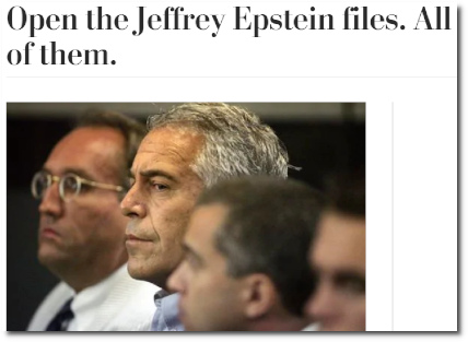 Open the Jeffrey Epstein files. All of them. (Wapo 6 March 2019)