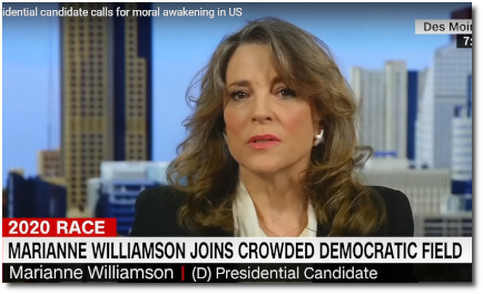Presidential candidate Marianne Williamson says we need a moral awakening (31 Jam 2019)