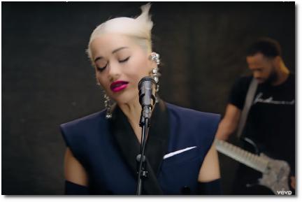 Rita Ora singing Let Me Love You for Vevo on Valentine's day (14 Feb 2019)