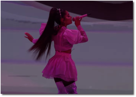 Ariana singing Be Alright for the BBMA's (1 May 2019) from her Sweetener tour in Vancouver (27 April 2019)