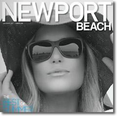Erica Hosseini, Pro surfer, graces the cover of Newport Beach magazine