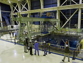Spent Fuel Pool on the Refuel floor at Brown Ferry Nuclear plant