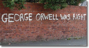 George Orwell was right (brick wall)