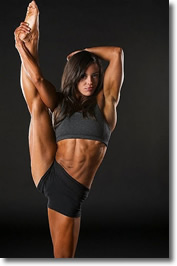Fit, muscular, athletic and obviously limber