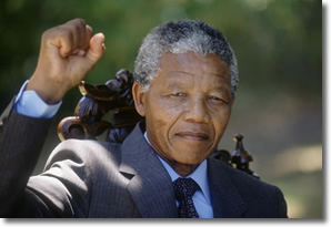 Nelson Mandela Raised a Fist