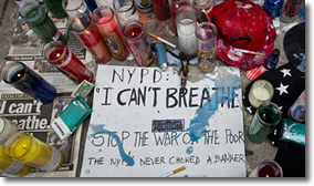 'I can't breathe' says Eric Garner in New York City on July 17, 2014