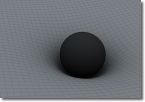 Curvature of Spacetime by a Gravity-containing Object