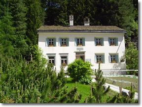 Nietzsche's alpine summer home in Sila Maria in the Swiss Alps