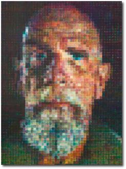 Chuck Close Self-Portrait (No Glasses) 2015-16