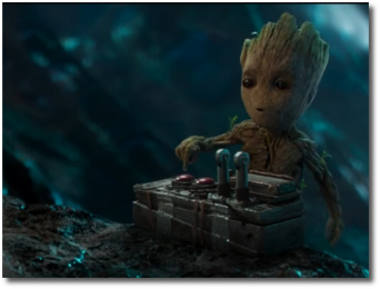 Baby Groot and the atomic bomb