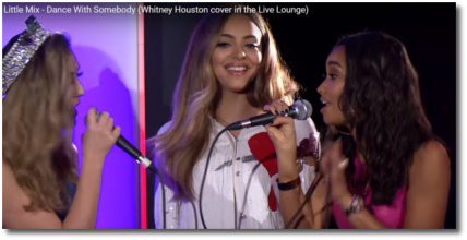 Little Mix singing Dance with Somebody | Whitney Houston cover