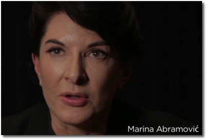 Maria Abramovic asks how you KNOW that you're an artist