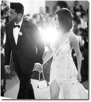 Selena and the Weeknd at the Met Gala May 1, 2017