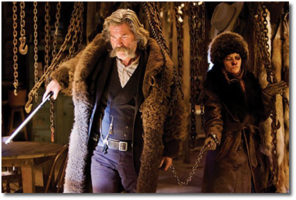 Daisy Domergue chained to John the Hangman Ruth | Hateful Eight