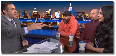 Ari Melber with Ebro Darden and Rosenberg and Laura Stylez (16 June 2018)