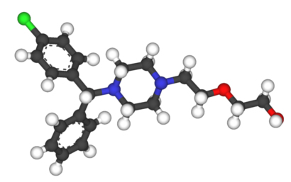 Ball-n-stick model of Hydroxyzine